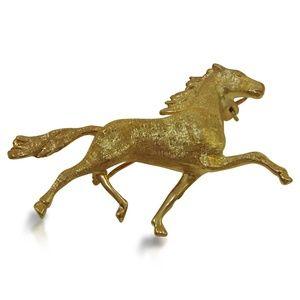 Jewelry - 14 Karat Vintage Horse Brooch
